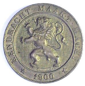 BELGIUM 1900 5 CENTIMES FLEMISH LEGEND (KM#41) UNCIRCULATED