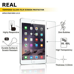 New Premium Tempered Glass Film Screen Protector Guard For Apple iPad Mini 4