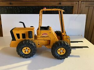 Mighty Tonka Toys XMB-975 Articulated Forklift - Pressed Steel