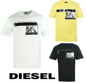 Diesel Men's T-Shirt Short Sleeve 100% Cotton T-Shirt T-Just-YP Top Brand New