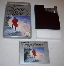 King's Quest V 5 (Nintendo NES, 1992) complete in box CIB with manual