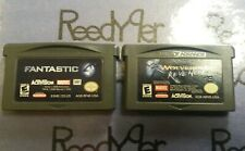 Fantastic 4 & Wolverine's Revenge games Nintendo GameBoy Advance GBA SP Micro DS