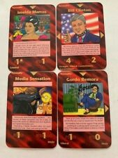 Illuminati New World- Clinton + Imelda + Gordo + Sensation -4 Personality Cards