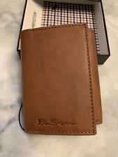 Ben Sherman Mens Manchester Collection Brown Leather Wallet New In Box