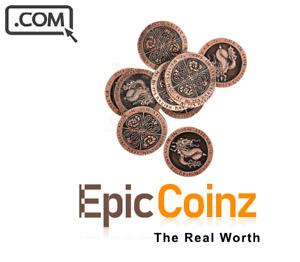 EpicCoinz  .com  Premium brandable Domain Name for sale EPIC COINS RARE COINS