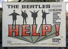 An original and ULTRA RARE 1965 The Beatles HELP! movie / film poster, mounted.