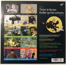 Belgique België, Reproduction couleur bloc de timbres Tintin neuf, très bien