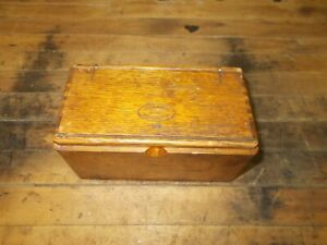 Antique 1889 Singer Sewing Machine Attachments Tools Puzzle Box Oak Treadle