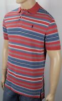 Polo Ralph Lauren Red Blue Striped Classic Fit Mesh Shirt Navy Pony NWT
