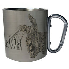 Abstract Design Robotic Arm Manipulated by Humans Carabiner 11oz Mug y222c