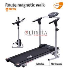 GetFIT - Tappeto MAGNETICO ROUTE WALK - Inclinazione 3Liv - Battito Cardiaco