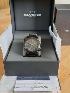 Glycine AIRMAN 46 GL0169, GMT, SCHWARZ, NEU, GARANTIE
