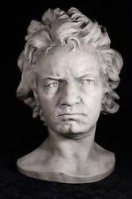 "17"" Large Wall Art Plaster Head Sculpture Bust of Composer Ludwig Van Beethoven"