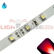 Red - PLCC2/3528 12V LED Strip - Adhesive Backing - Water Resistant - 5m Roll /