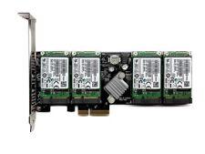 New 1tb RAID 4x Samsung evo 850 250gb mSATA + m.2 PCIe SSD dual slot adaptador nuevo