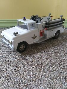 1959 Tonka Fire Pumper Truck one year white color