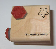 Flowers Rubber Stamp Stampin' Up! Three Designs in One Wood Mounted New Floral