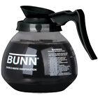 Coffee Pot Decanter BUNN 64oz glass COFFEE POT 42400.0103, Black