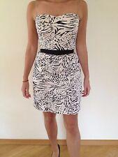 NEW - H&M - Dress - size S - UK 8 EU 38 SIZE S M  -short - CORSET - BEIGE BLACK