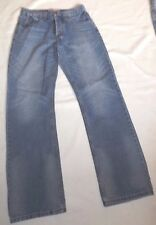 MENS KICKERS W30 L31 VINTAGE FADDED STYLE BLUE DENIM JEANS BUTTON FLY PANTS