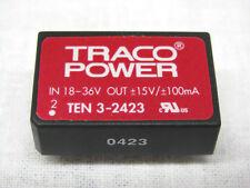 TRACO POWER TEN 3-2423 DC/DC Converter +/-15V