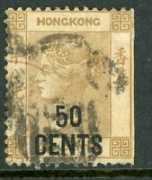 China 1885 Hong Kong 50¢/48¢ Brown QV SG #41 VFU H119 ⭐⭐⭐⭐