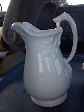 "Early 11"" Ironstone Pitcher"