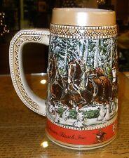 "Budweiser Anheuser Busch Clydesdale 1987 Collectors Series ""C"" Beer Stein Mug"