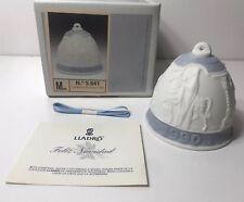 Lladro Porcelain # 5.641 Campanita Navidad 1990 Hanging Christmas Bell
