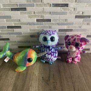 TY BEANIE BABIES BOOS Lot of 3  Nori, Oscar, and Glamour plush stuffed animals