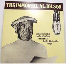 """AL JOLSON : THE IMMORTAL AL JOLSON Album Vinyl LP 12"""" 33rpm MCA VG+"""
