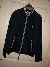 Mens Medium Penguin Jacket Casuals Designer Coat Rare Nylon Cotton Blue