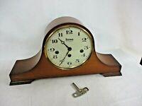 Vintage Bulova Westminster Chime Mantle Clock with Key Two Jewel Germany (JBC