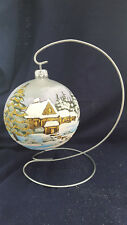 Hand painted christmas decorations Glass Bauble on metal stand high quality 100