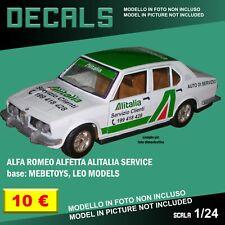 DECALS repro Alfa Romeo Alfetta Alitalia Mebetoys Leo Model 1/25 1/24 1 24 decal