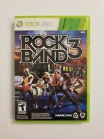 Rock Band 3 (Microsoft Xbox 360, 2010) Complete Tested