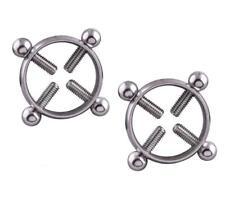 1Pair Titanium Round Non-Piercing Nipple Ring Shield body piercing jewelry Nicke