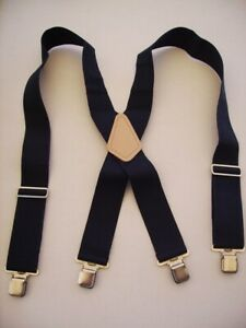 "2"" X  Non Stretchable INDUSTRIAL  Men's Suspenders Clips or Snap-Ons MADE IN USA"