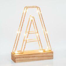 Light Up Letters A | Wire Frame Copper Letter Lights | Bedroom Decor | A-Z