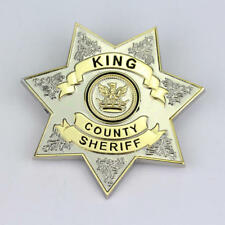Prop Metal Badge Pin Insignia Brooch Usa The Walking Dead King Country Sheriff