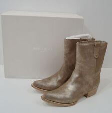 Block Heel 100% Leather Textured Boots for Women
