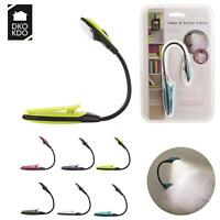 Lampe de Lecture Flexible LED Pince Clip Pile Incluse 6 Couleur 24 x 15 cm