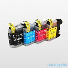 4 Tintas Compatible NonOem BROTHER LC127 LC125 XL DCP-J4110DW MFC-J4410DW chipV3