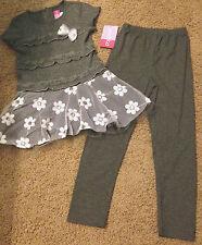 Sophie Rose Sequin Floral Lace Tunic  Dress & Legging Outfit Retail $50 SZ 4-6X