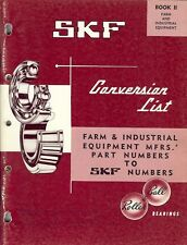 Equipment Catalog - Skf Canada - Bearing Conversion Data Farm 1966 (E1322)