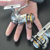 Silver Fishing Reel Spinning Roller Wheel Mini Micro Lure Ultra Small Tiny Fish