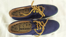 Vintage Jantzen Low Canvas Sneakers Tennis Shoes Navy Blue Size 7 Womens