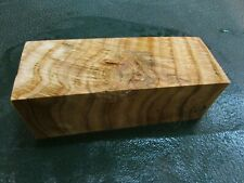 SPALTED TIGER OAK DELUXE KNIFE BLOCK/SCALES/ CALLS/ PEN BLANKS--O--A