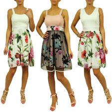 Blumen-Damenkleider aus Polyester für Cocktail-Anlässe