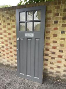 Reclaimed Edwardian Wooden Panel External Front Door 1925 x 810mm